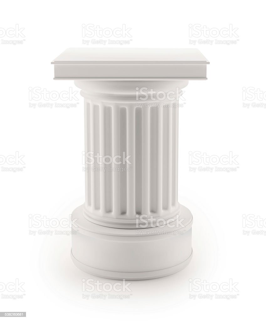 3D Column stock photo