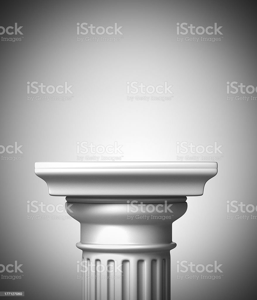 Column Podium stock photo