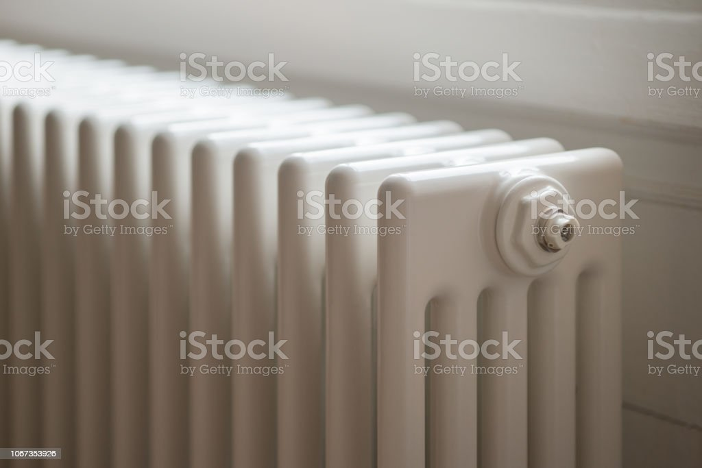 Column Radiator Central Heating Stock Photo - Download Image Now