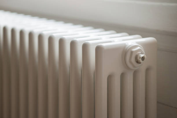 Column Radiator Central Heating stock photo