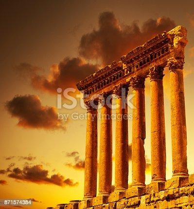 istock Column ruins over sunset 871574384