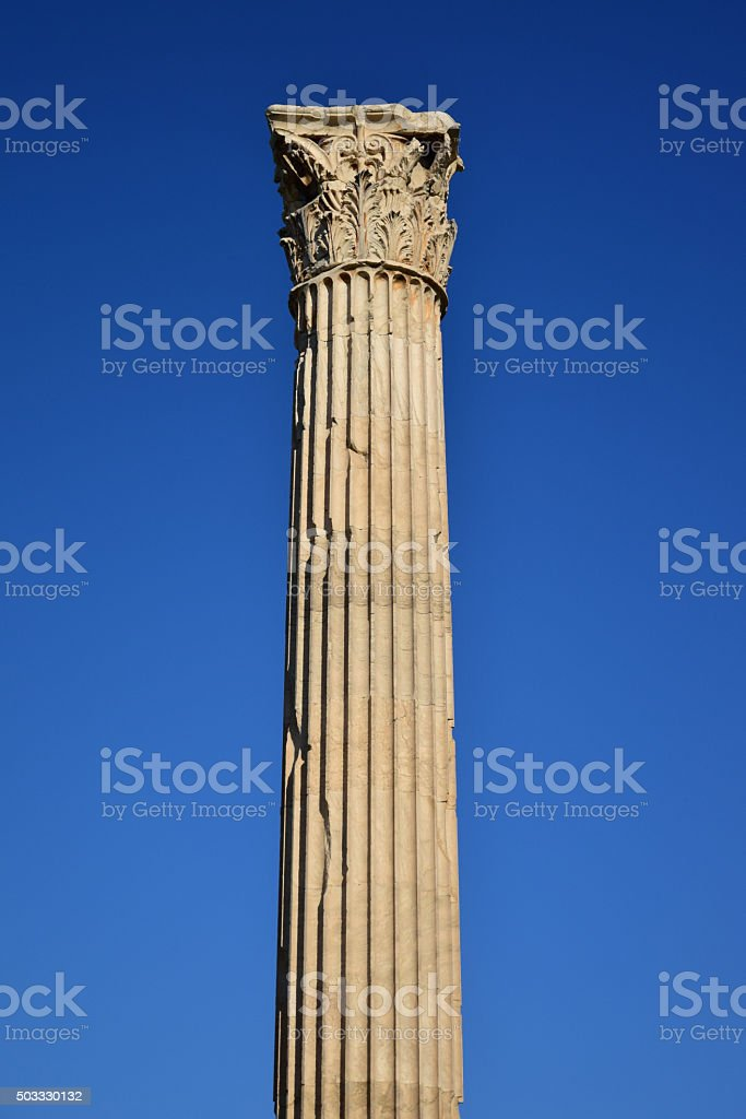 Column - Temple of Zeus stock photo