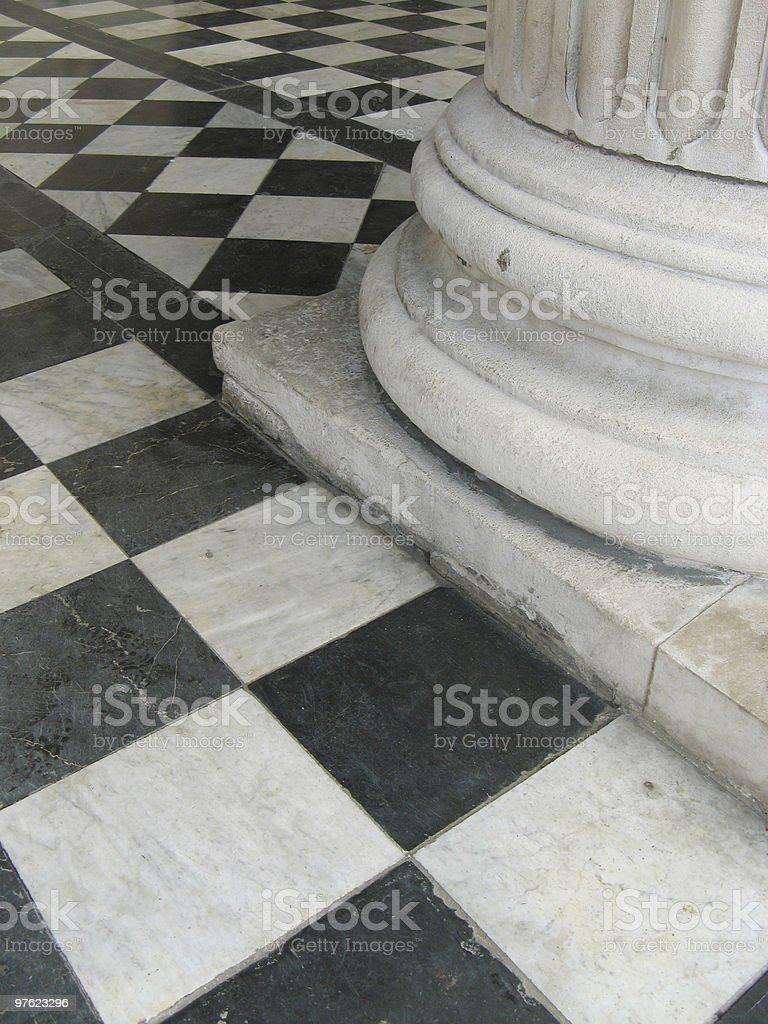 Column with tiles royaltyfri bildbanksbilder