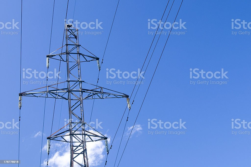 Column with wires royalty-free stock photo