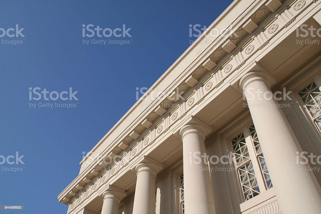 Columned Building - horizontal royalty-free stock photo