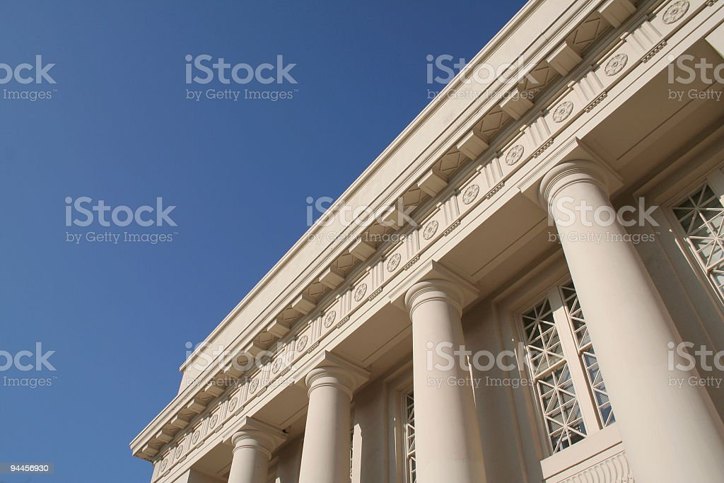 Columned Building - horizontal stock photo