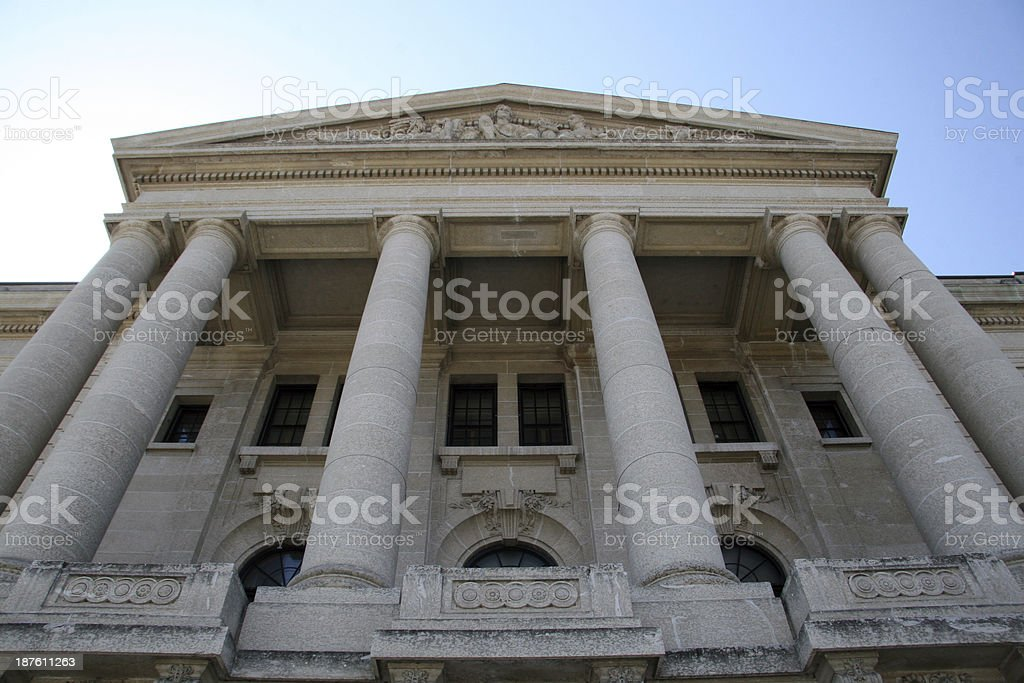 Columned Facade stock photo