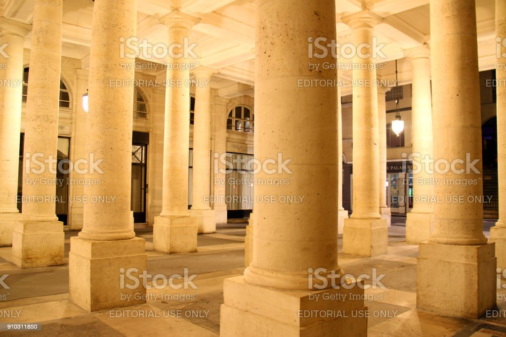 Columned Square stock photo