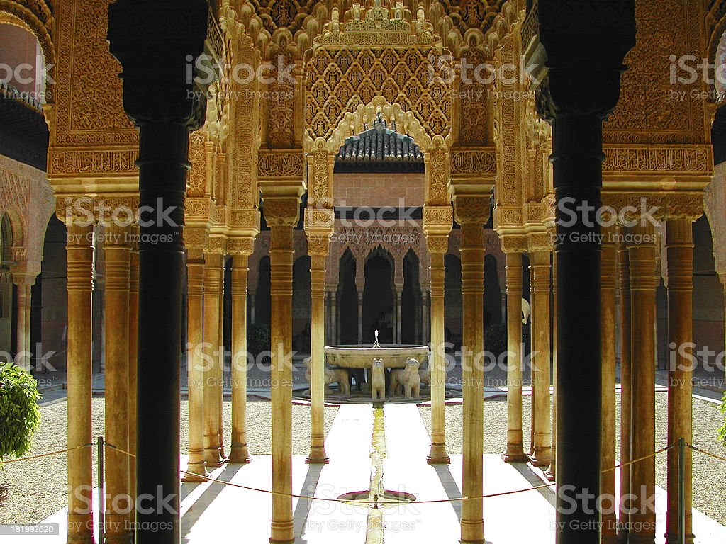 Columns and arch royalty-free stock photo