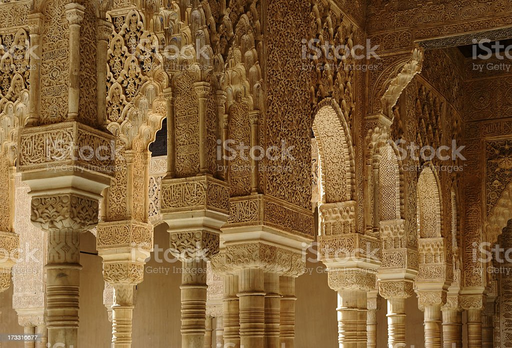 Columns and arches stock photo