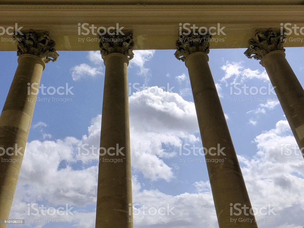 Columns and Clouds stock photo