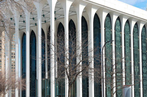 Columns and Facade of Minneapolis Office Building stock photo