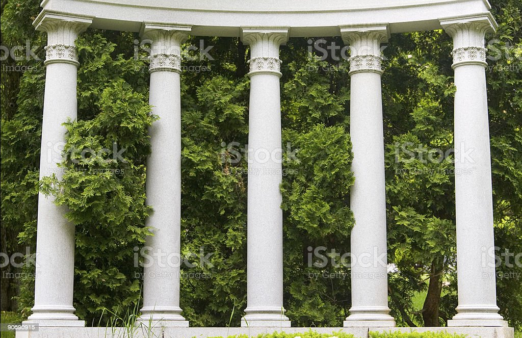 Columns and Greens stock photo
