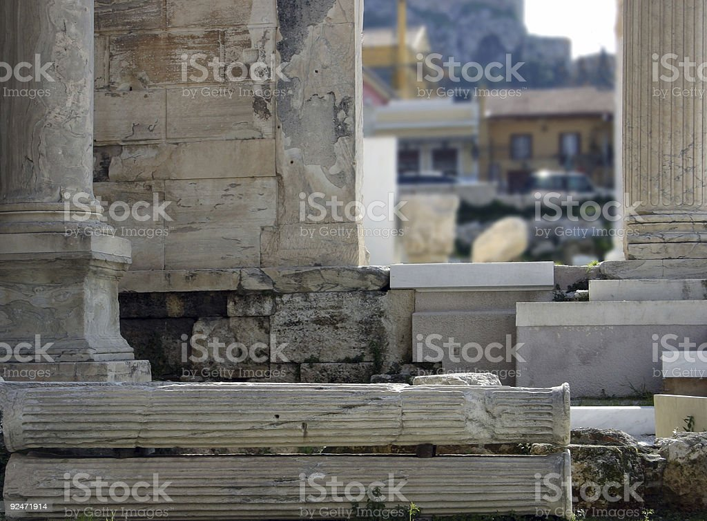 Columns and pillars royalty-free stock photo