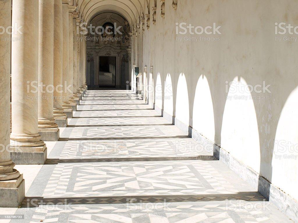 Columns and shadows royalty-free stock photo