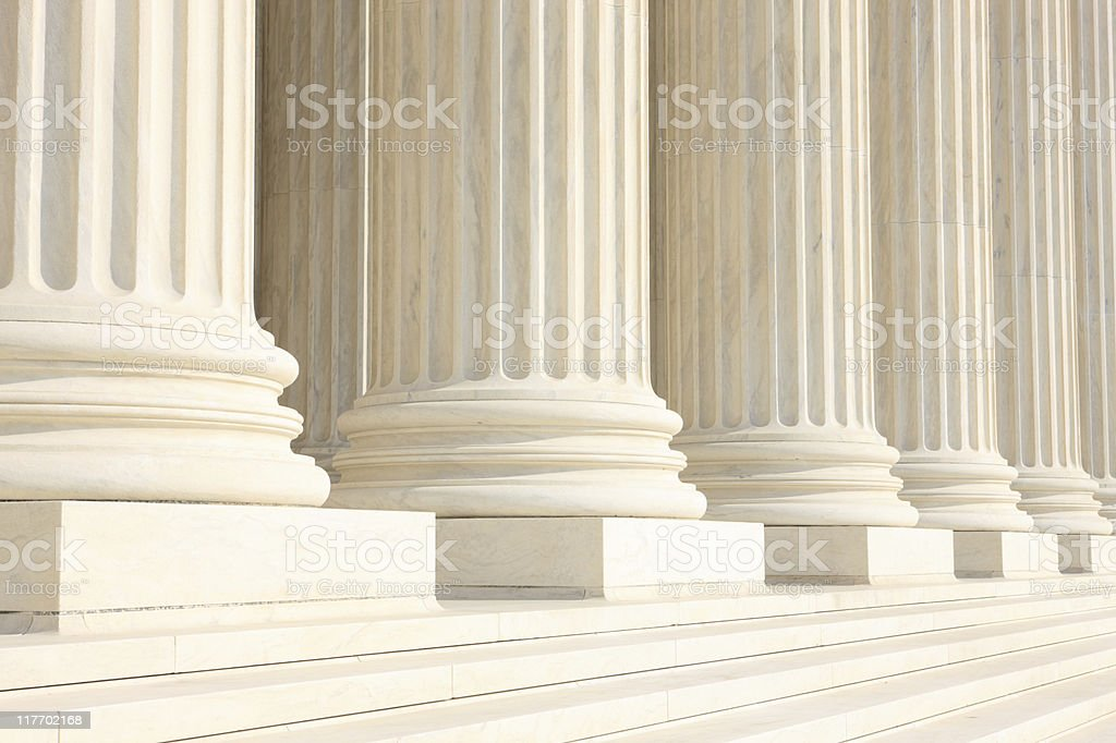 Columns and steps stock photo