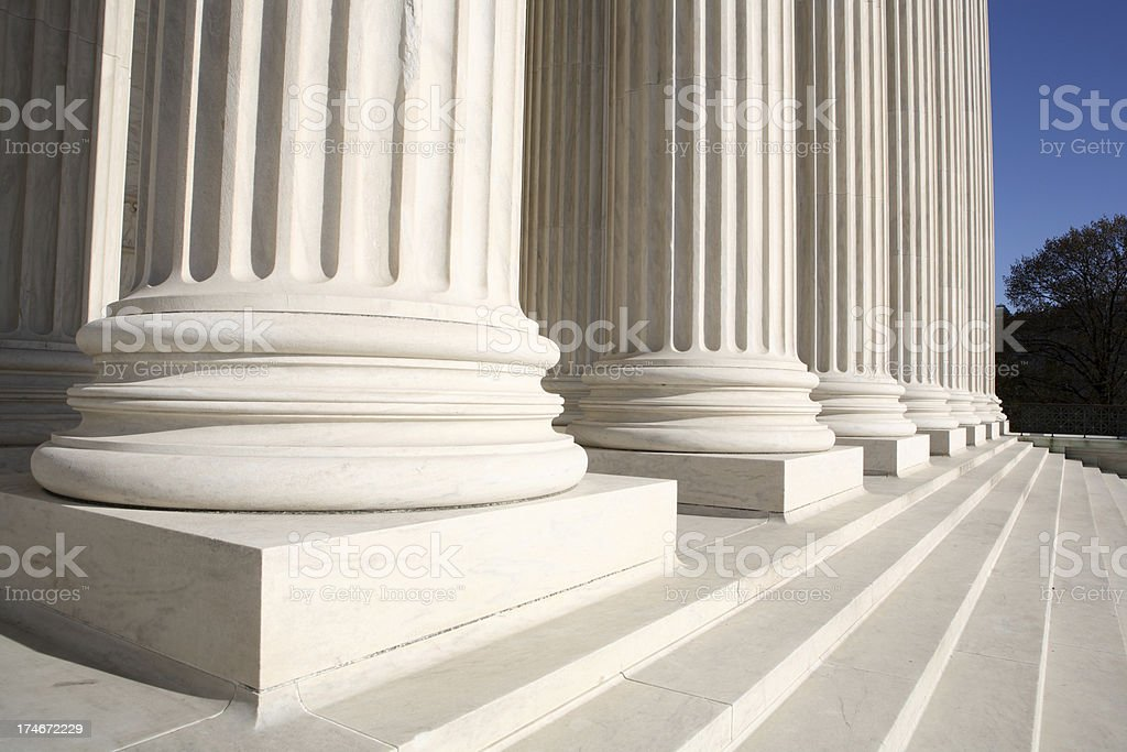 Columns and Supreme Court royalty-free stock photo
