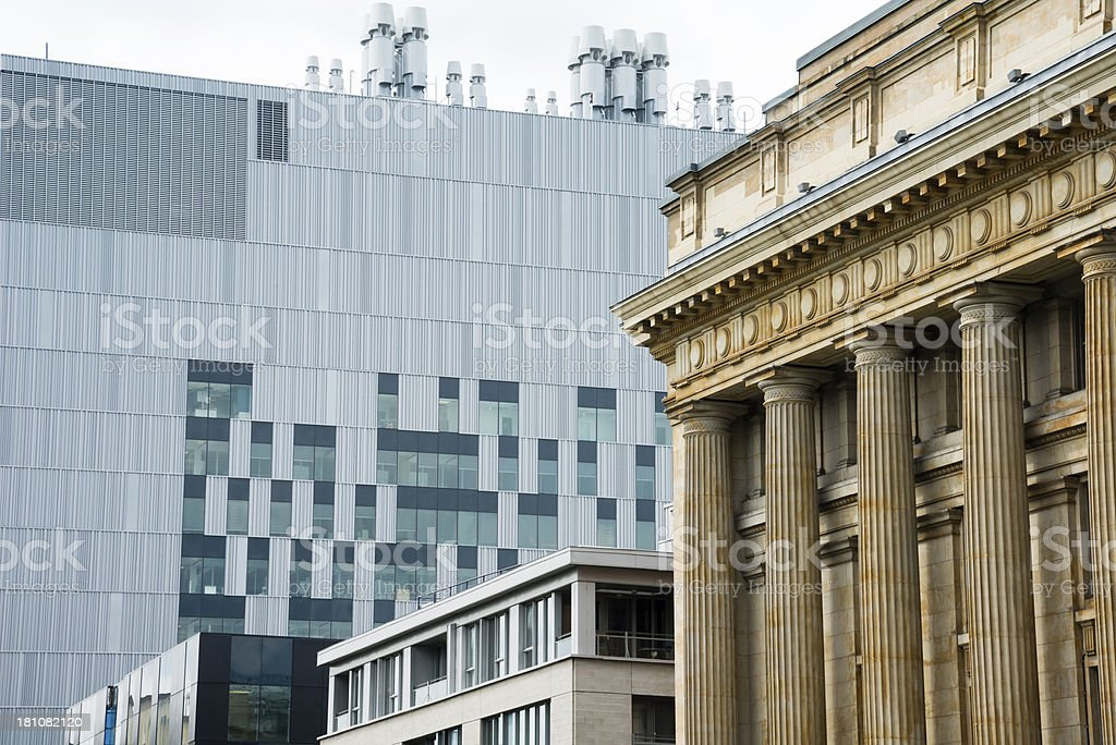 Columns and Windows royalty-free stock photo