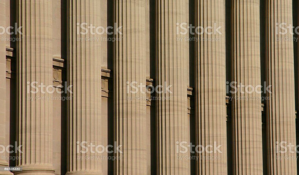 Columns - Architectural detail of office building (Washington DC, USA) royalty-free stock photo