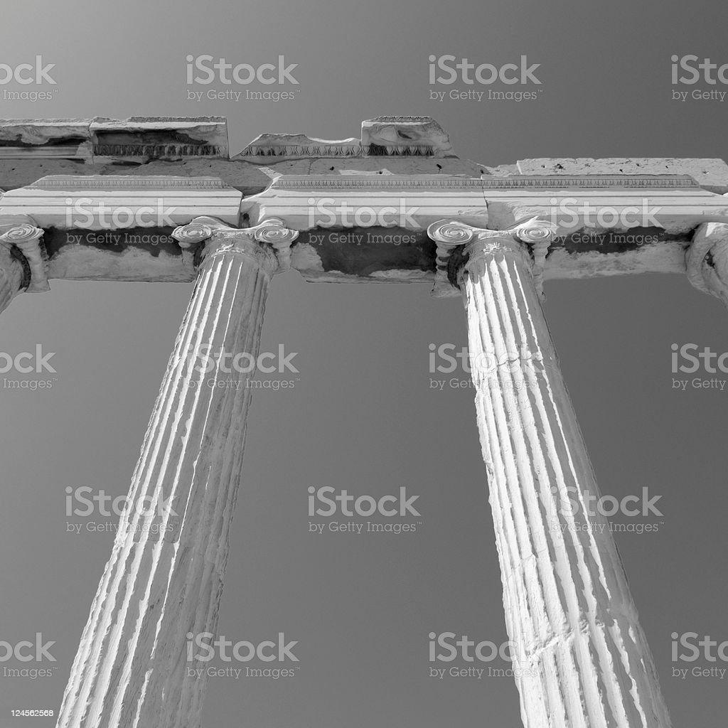 Columns at Acropolis royalty-free stock photo