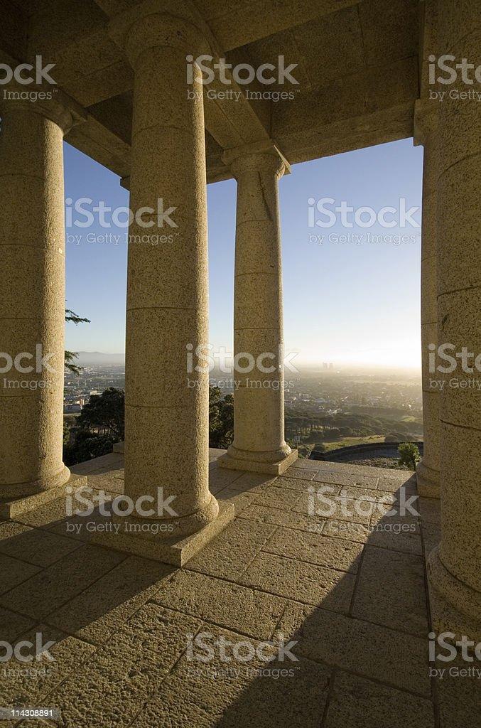 Columns at dawn, or dusk stock photo