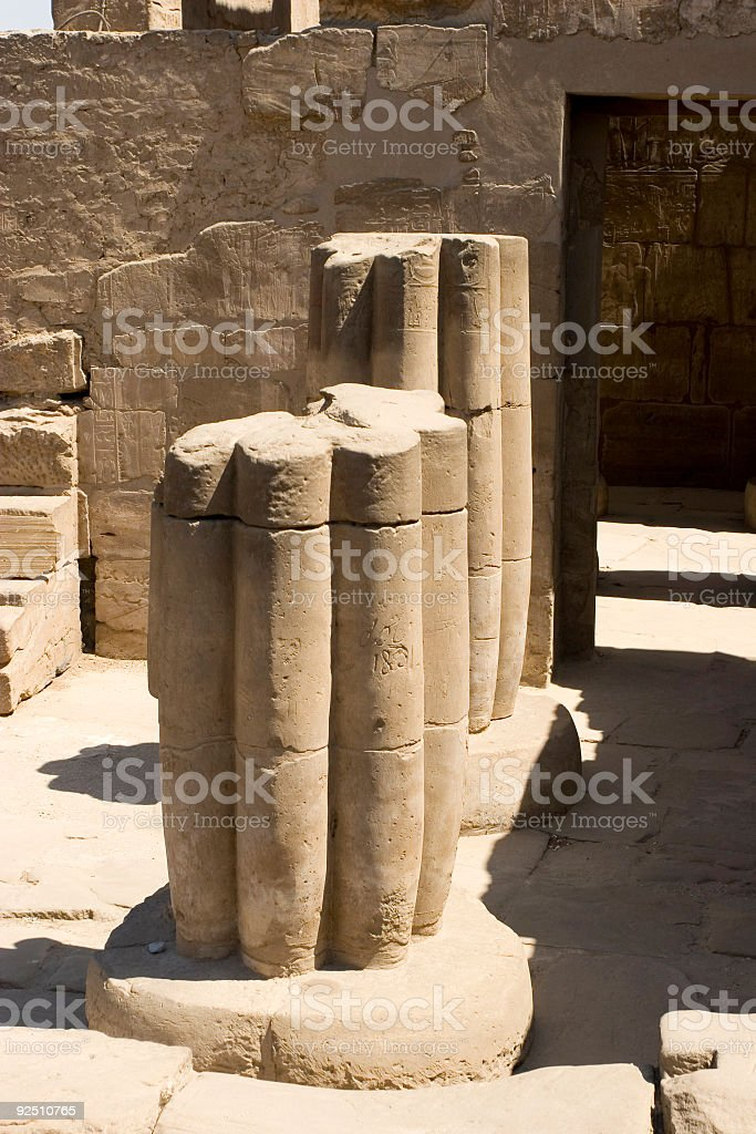 Columns at Luxor Temple royalty-free stock photo