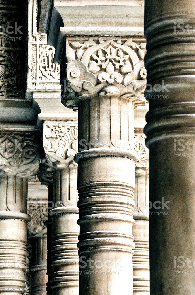 Columns at Patio de los Leones, Alhambra royalty-free stock photo