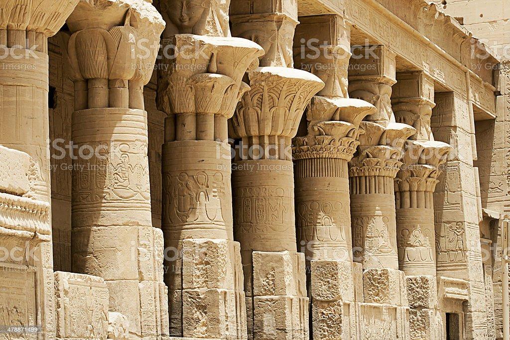 Columns At Philae Temple, Aswan, Egypt stock photo