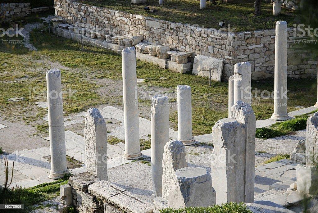Colonne dell'Antica Agorà di Atene foto stock royalty-free