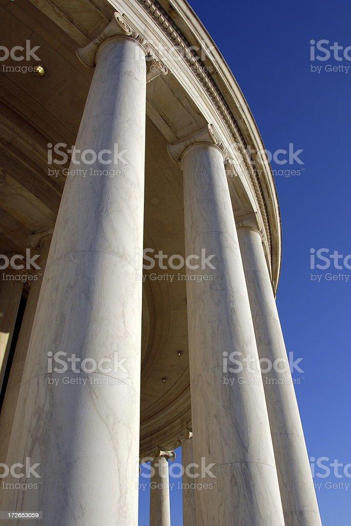 Columns at the Jefferson Memorial 2 stock photo