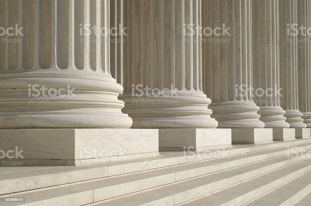 Columns at the Supreme Court stock photo