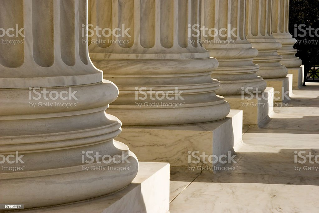 Columns at the U.S. Supreme Court royalty free stockfoto
