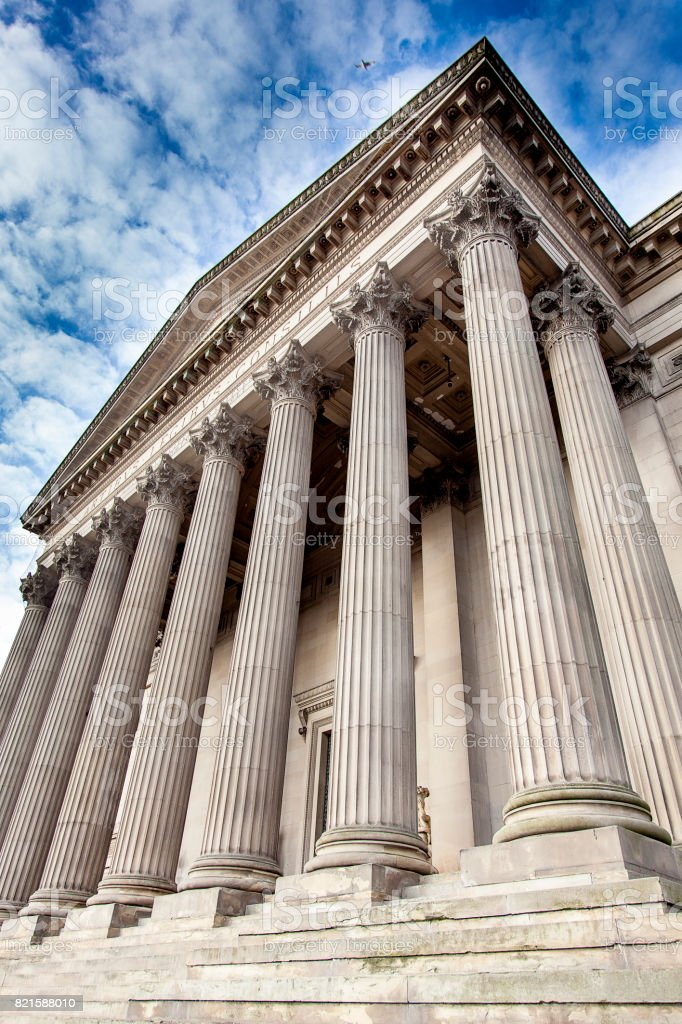 Columns building stock photo
