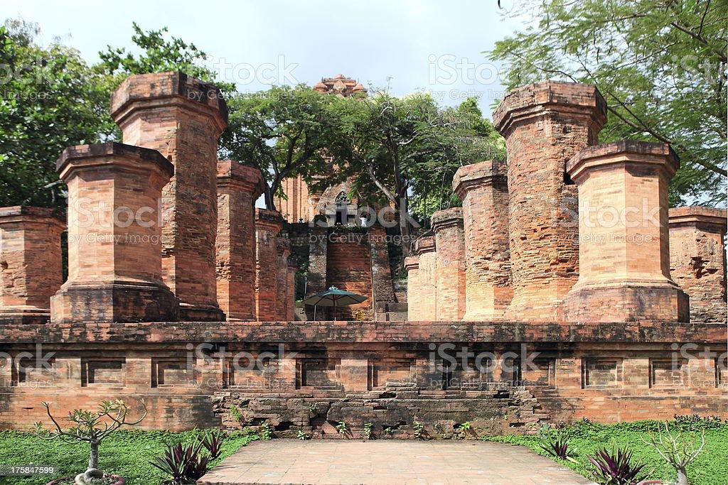 Columns by the Cham civilization. Nha Trang, Vietnam stock photo