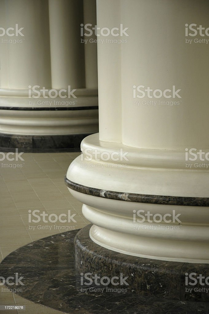 Columns in a temple stock photo