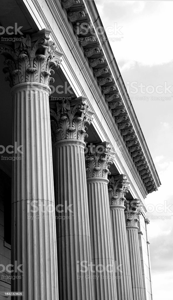 Columns in Black and White royalty-free stock photo