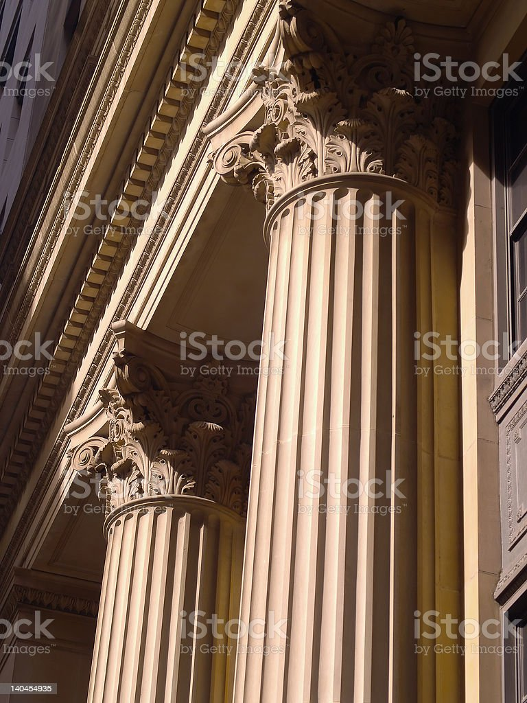 Columns in Chicago stock photo