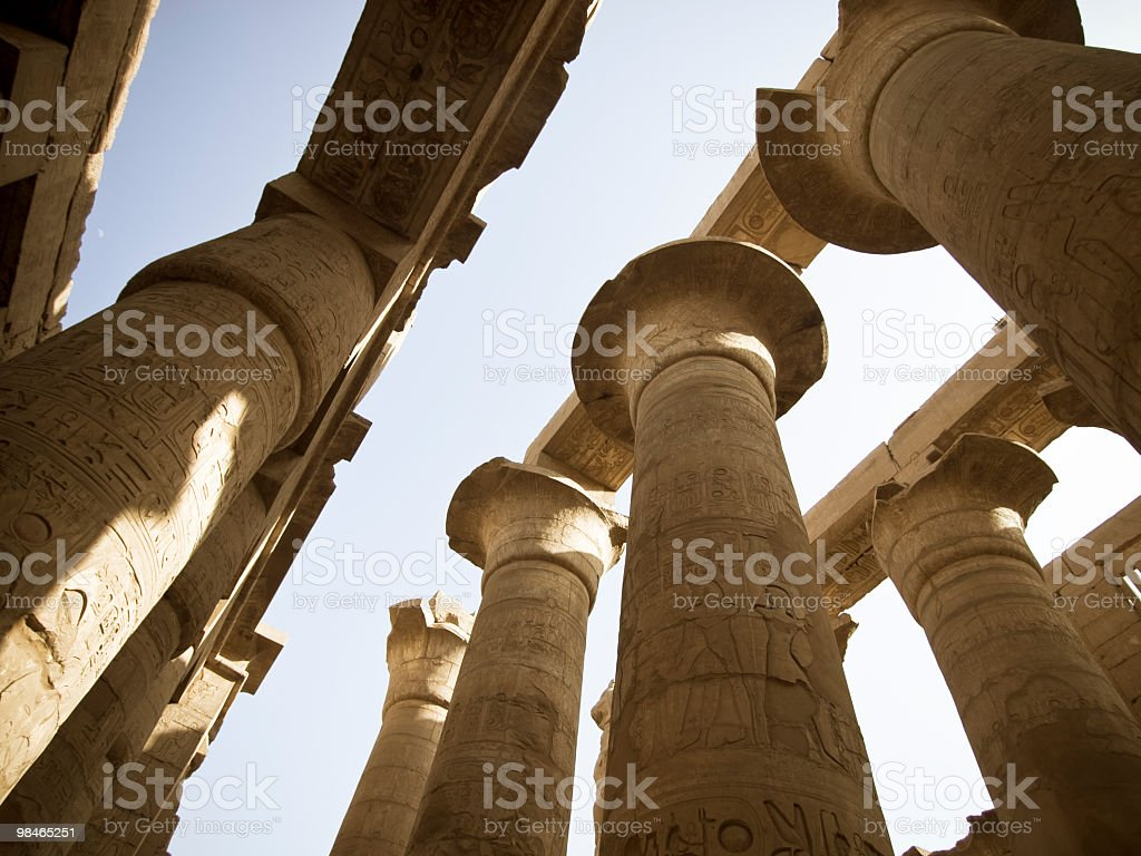 columns in Karnak temple royalty-free stock photo