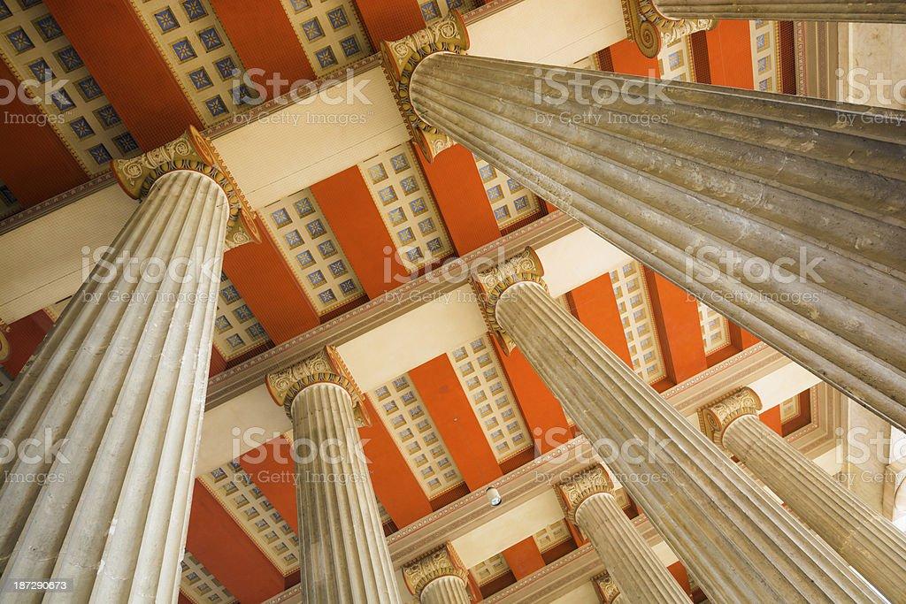 Columns in Propyläen at Königsplatz, Munich, Germany stock photo