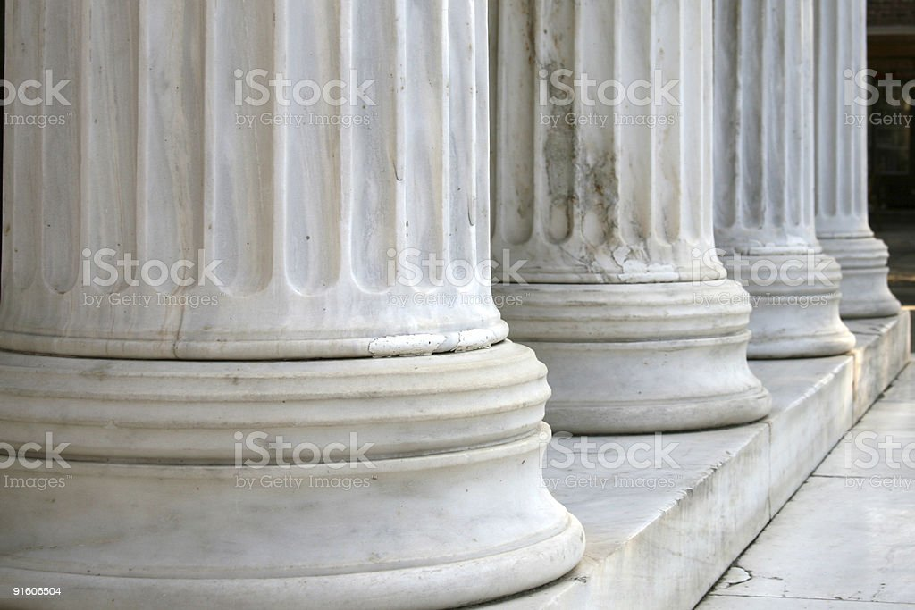 Columns in row (horizontal) stock photo