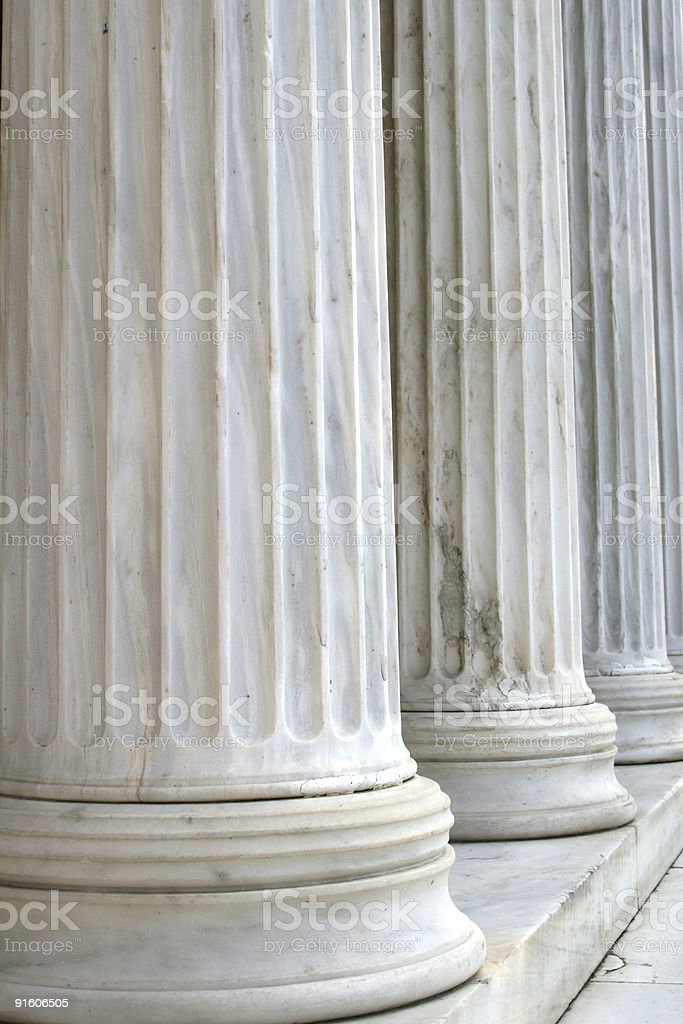 Columns in row (vertical) royalty-free stock photo