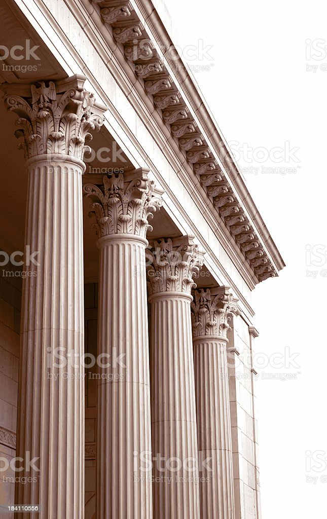 Columns in Sepia stock photo
