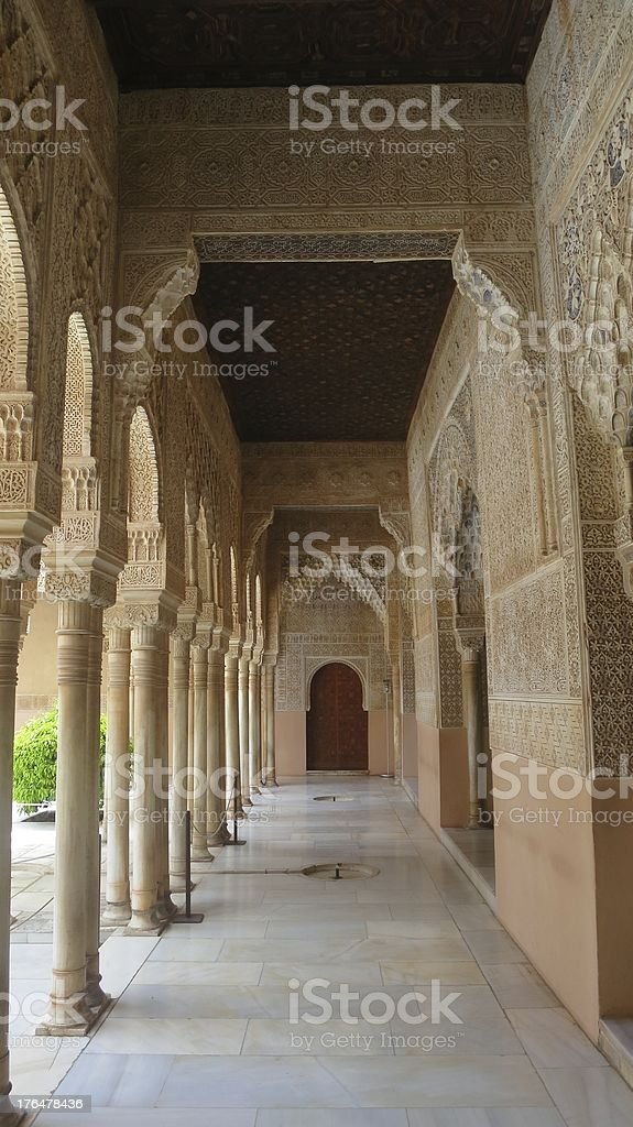 Columns in the Alhambra stock photo