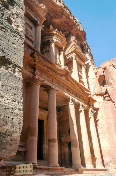 Columns in the desert stock photo