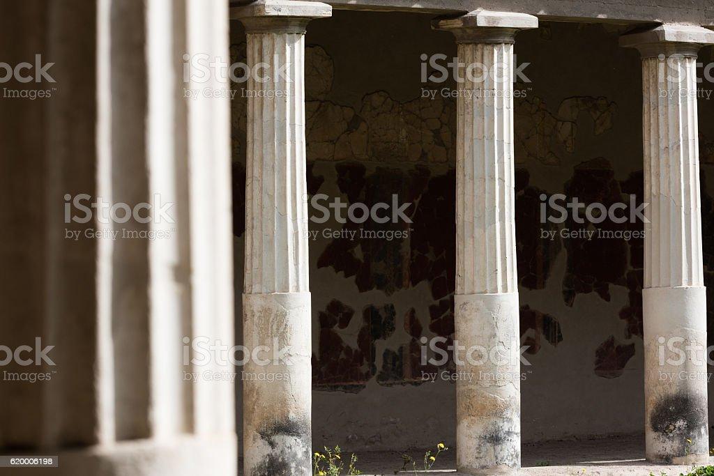 Columns in Villa Oplontis stock photo