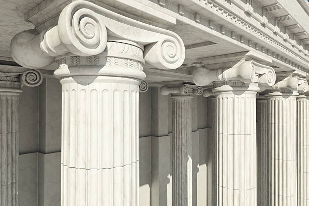 columns. ionic order. - roman stock photos and pictures