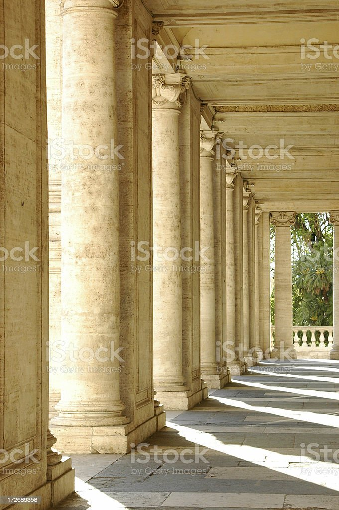 Columns Italy stock photo