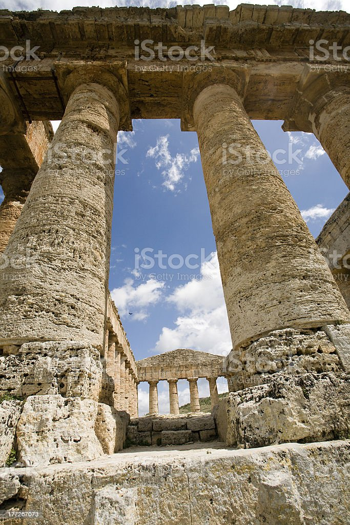 columns of ancient temple stock photo