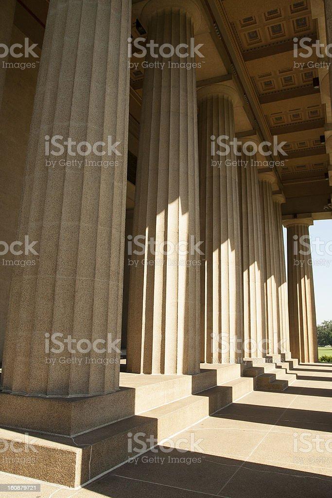 Columns of Athena royalty-free stock photo