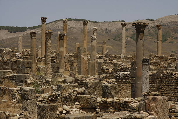 columns of djemila, algeria - algeria stock photos and pictures